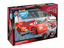 REVELL Junior KIt MCQUEEN de CARS   (19 parts) with light and sound  (easy to built ) Toys