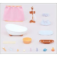 ensemble baignoire douche famille sylvanian planet passions. Black Bedroom Furniture Sets. Home Design Ideas